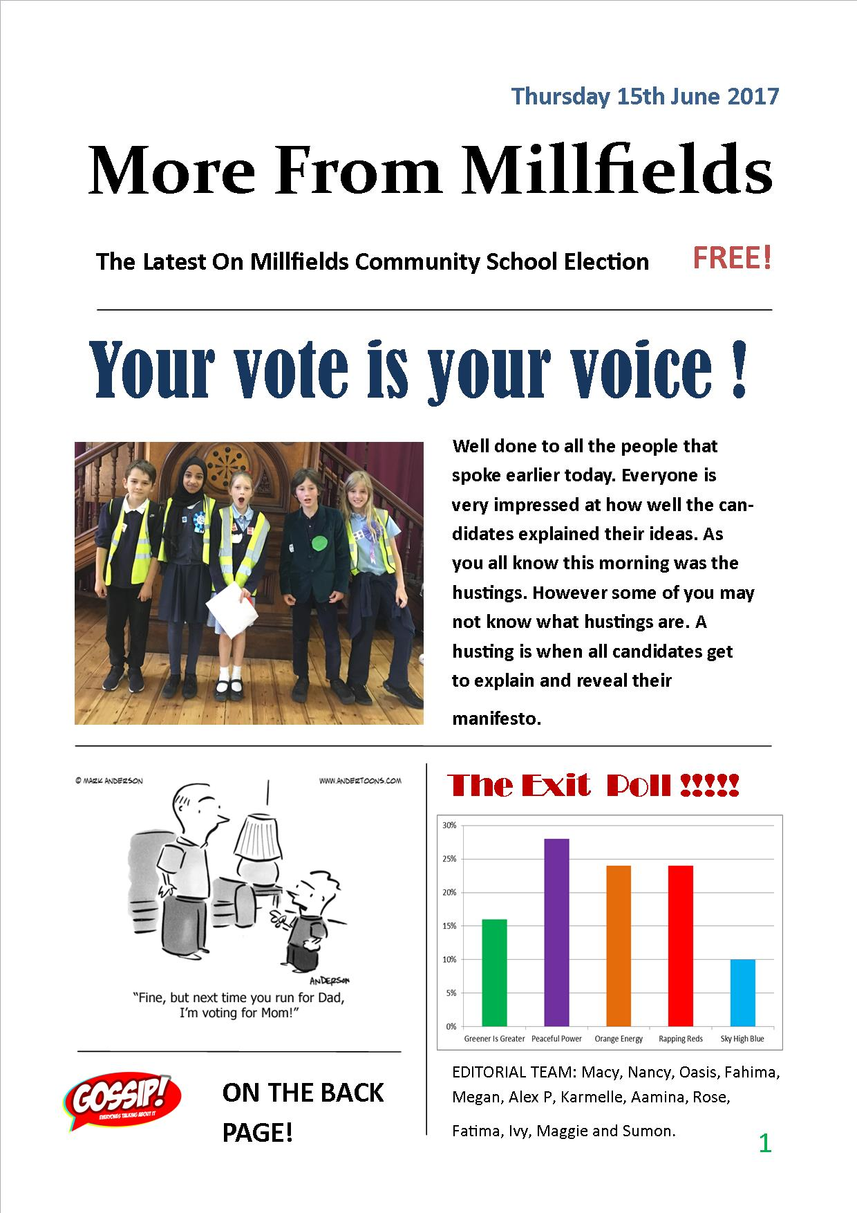 More From Millfields Democracy Week Thursday
